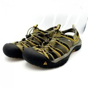 Keen Mens Size 15 Waterproof Hiking Sandals Green